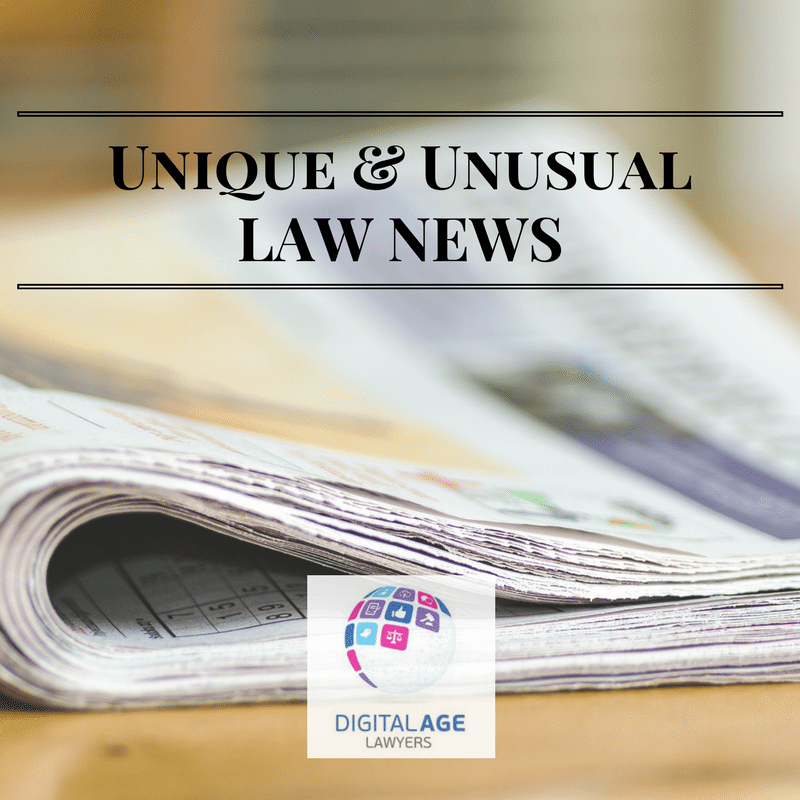 Unique and Unusual Law News 31st March