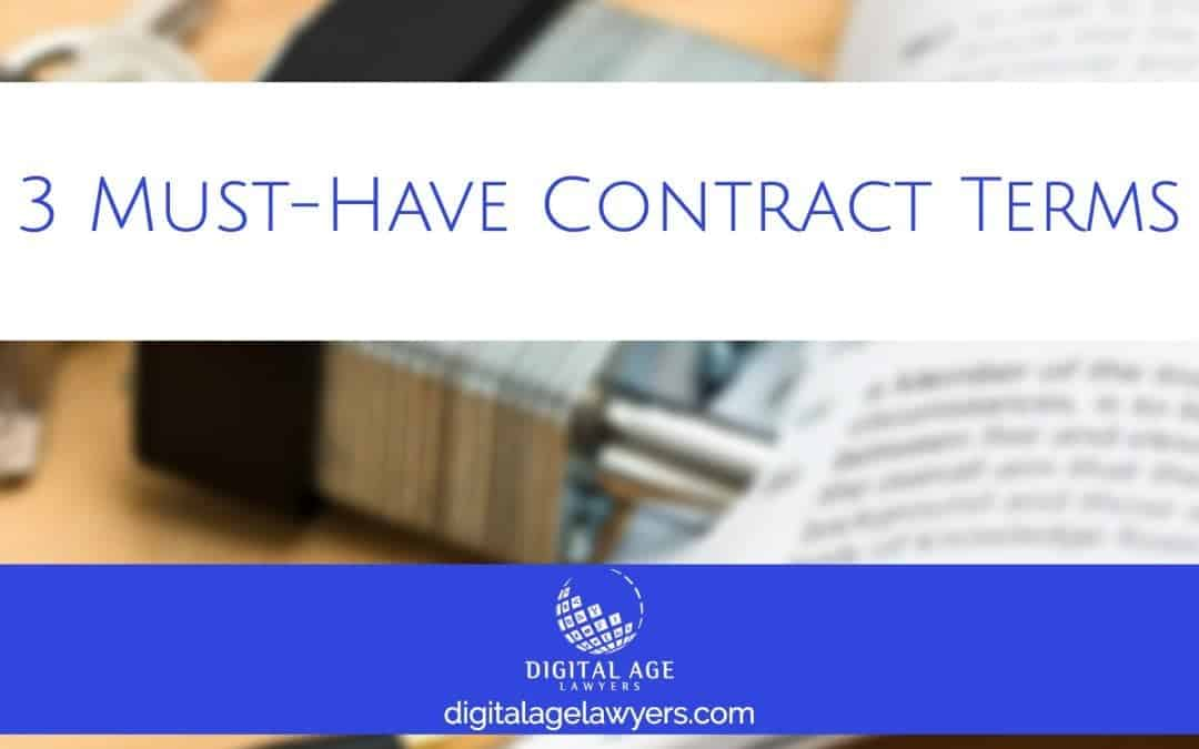 3 Must Have Contract Terms